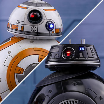 Hot Toys BB-8 and BB-9E Collectible
