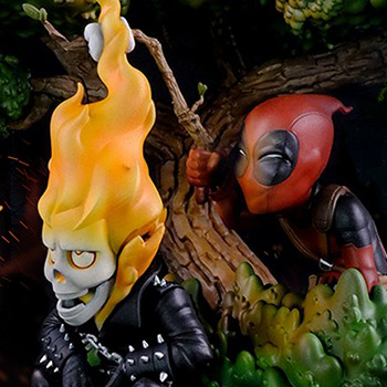 Deadpool x Ghost Rider Q-Master Collectible