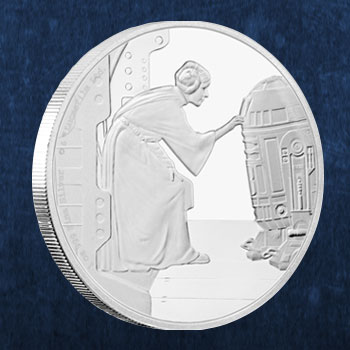 Princess Leia Organa Silver Coin Collectible
