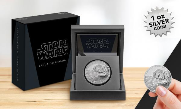 Lando Calrissian Silver Coin Silver Collectible