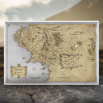 The Lord of the Rings Middle Earth Silver Foil Collectible