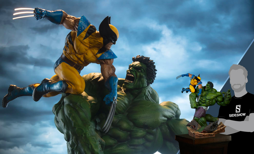 Hulk And Wolverine Statue Maquette Sideshow Collectibles