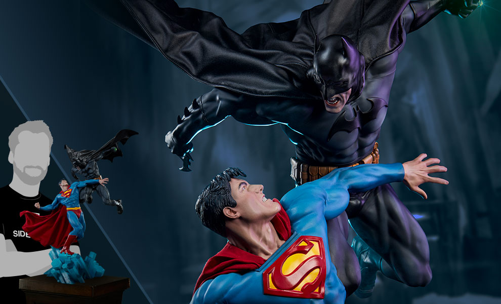 Batman vs Superman Diorama