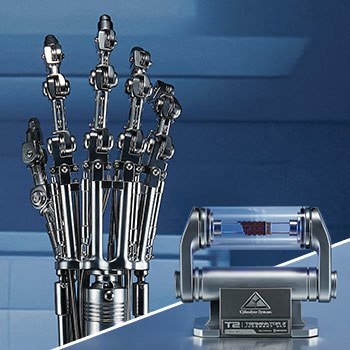 T-800 Endoskeleton Arm and Brain Chip Collectible Set