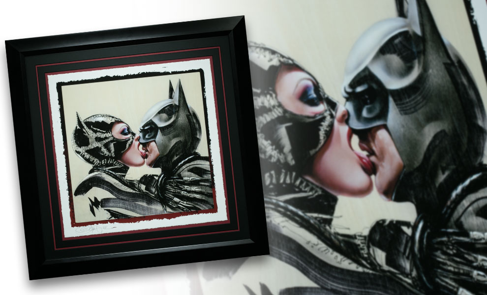 Batman Catwoman Tongue Lashing Art Print