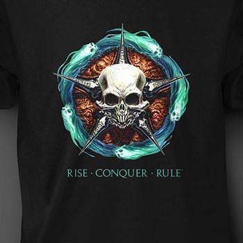 Rise Conquer Rule Process Print T-shirt Apparel