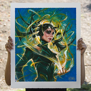 Hela Goddess of Death Art Print