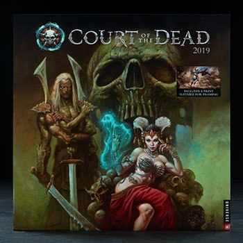 Court of the Dead 2019 Deluxe Wall Calendar Miscellaneous Collectibles