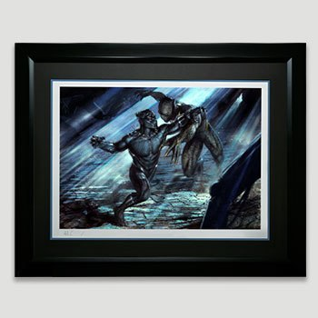 Black Panther vs Erik Killmonger Art Print