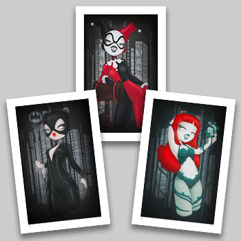 Gotham Girls Art Print
