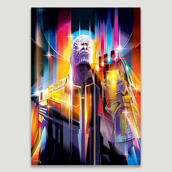 Thanos Infinity War HD Aluminum Metal Variant Art Print