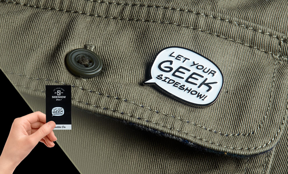 Let Your Geek Sideshow Word Bubble Collectible Pin