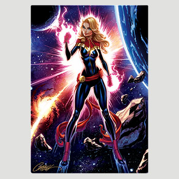 Captain Marvel HD Aluminum Metal Variant Art Print
