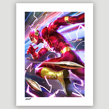 The Flash Art Print