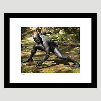 Black Panther on Set Art Print