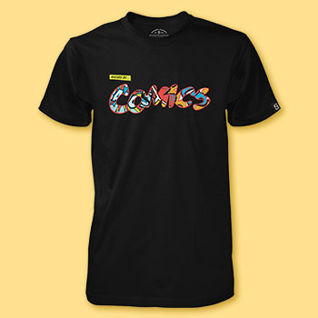 Raised by Comics T-shirt Apparel