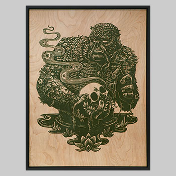Swamp Thing Print on Wood Variant Art Print