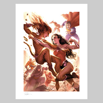 Justice League: Wonder Woman vs Cheetah Art Print