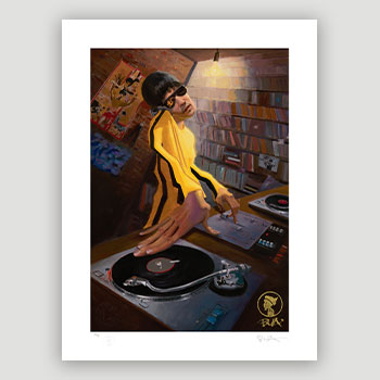 The DJ Bruce Lee Variant Art Print
