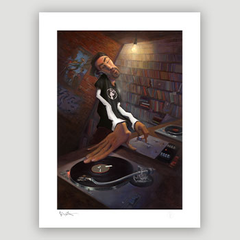 The DJ Art Print