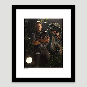 Owen Grady & Blue Art Print