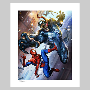 Spider-Man vs Venom Art Print