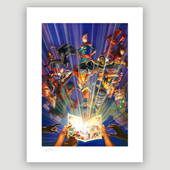 Marvel Comics #1000 Art Print