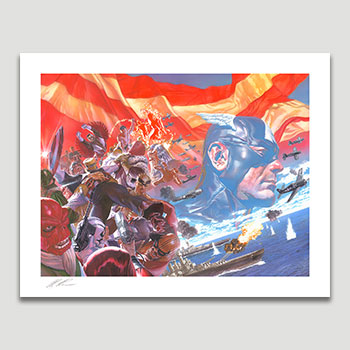 Captain America: Winter in America Art Print