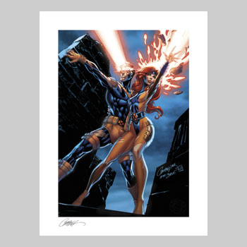 Uncanny X-Men: Cyclops and Jean Grey Art Print