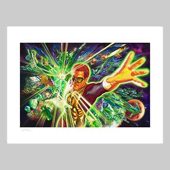 The Green Lantern Corps Art Print