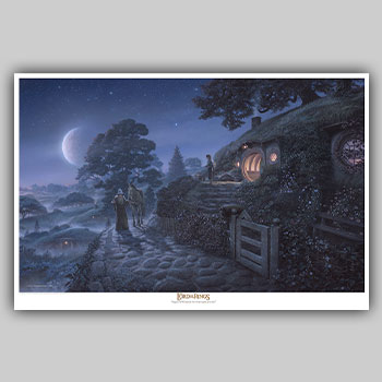 Bag End: Expect Me When You See Me! Art Print