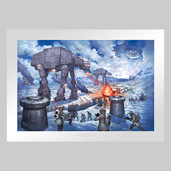 The Battle of Hoth Art Print