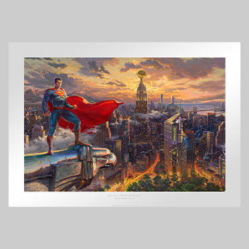 Superman - Protector of Metropolis Art Print