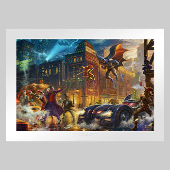 The Dark Knight Saves Gotham City Art Print