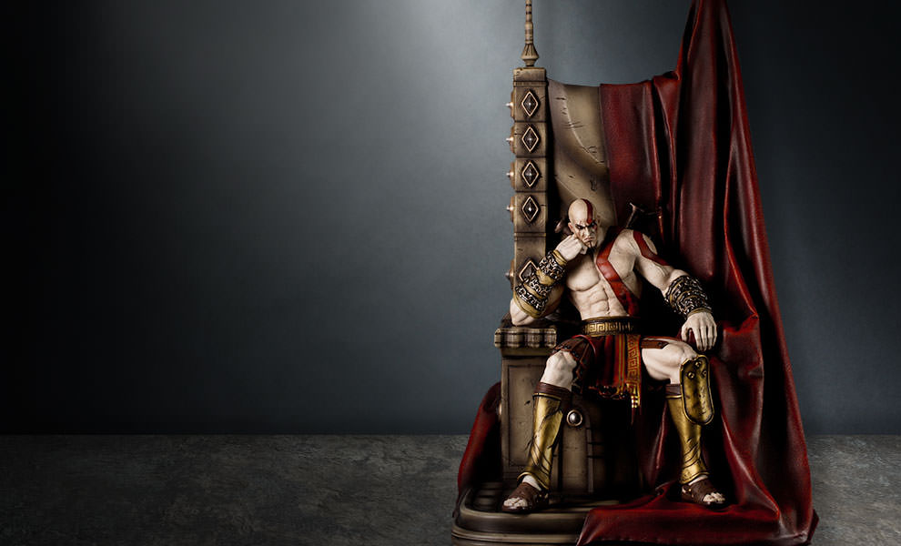 Kratos on Throne Statue