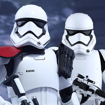 First Order Stormtrooper Officer and Stormtrooper  Sixth Scale Figure