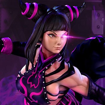 Juri Player 2 Black Statue