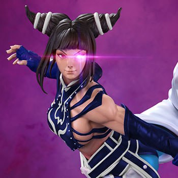 Juri Player 2 Blue Statue