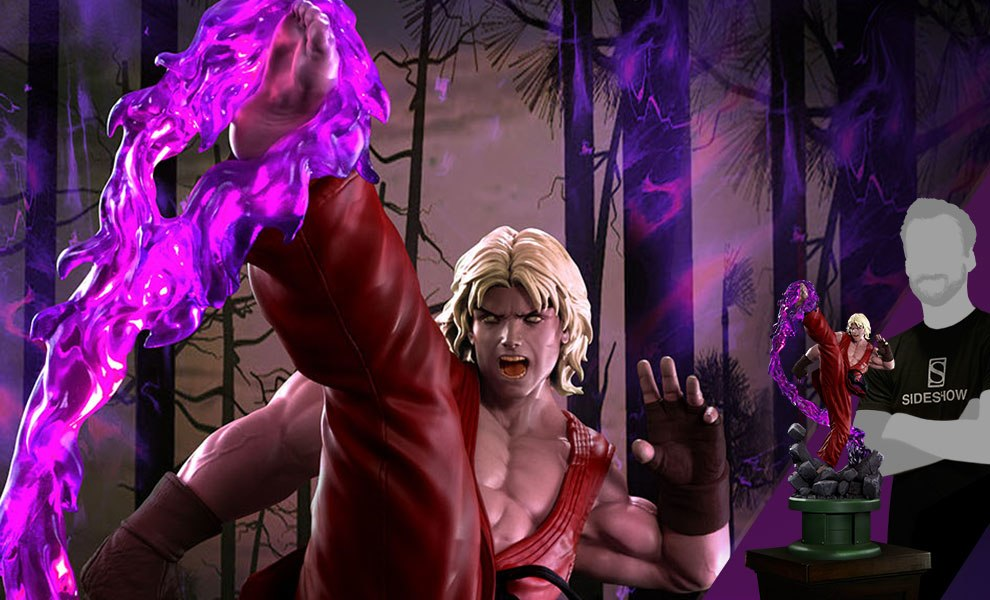 Ken Masters Violent Ken with Dragon Flame Statue