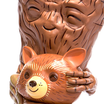 Rocket and Groot Treehugger Vinyl Collectible