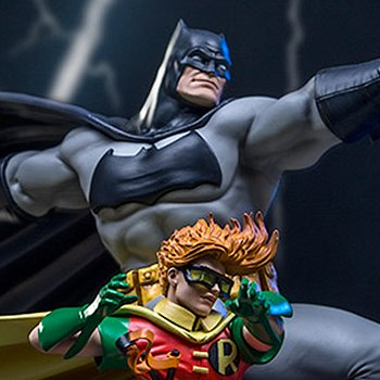 Batman and Robin Deluxe Statue