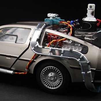 DeLorean Time Machine Collectible Figure