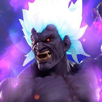Oni Akuma Mad Demon Statue