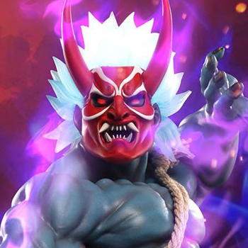 Oni Akuma Summer Demon Statue