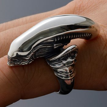 Alien Big Chap Silver Ring Jewelry
