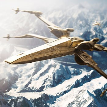 Gilt X-Wing Starfighter Scaled Replica