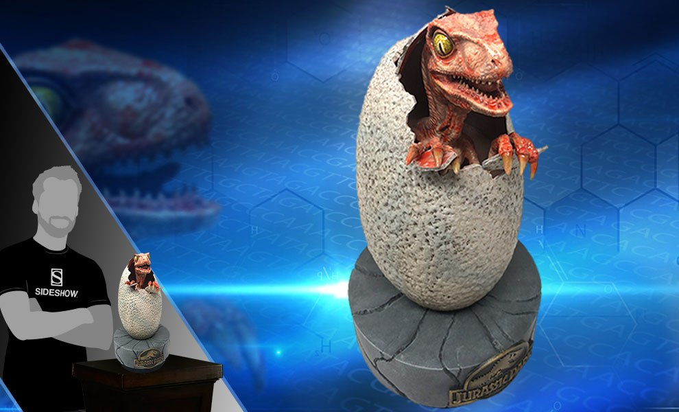 Hatching Baby Raptor Prop Replica