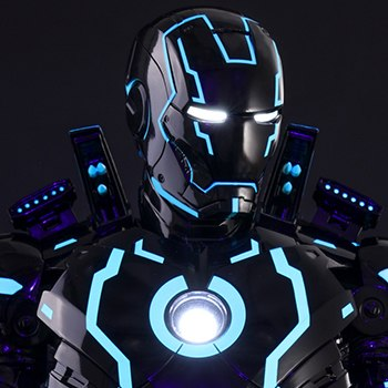 Neon Tech Iron Man Mark IV Sixth Scale Figure