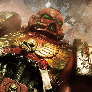 Space Marine Blood Ravens Statue