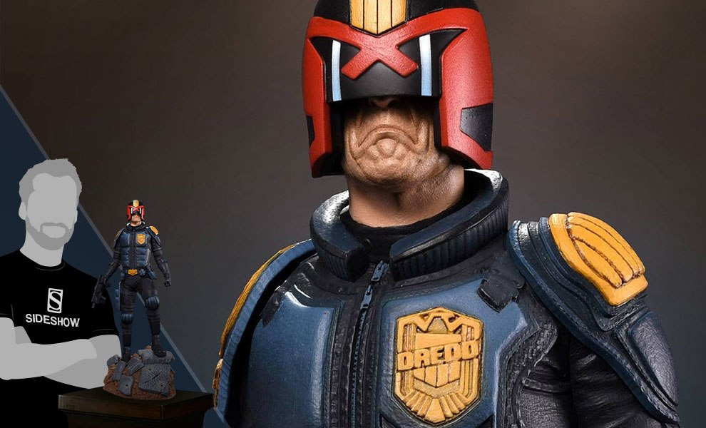 Judge Dredd Comic Version Statue